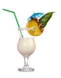 Pina Colada - cocktail con crema Fotografia Stock
