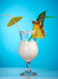 Pina Colada - cocktail con crema Immagini Stock