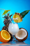 Pina Colada - Cocktail with Cream Stock Photos