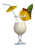 Pina Colada - Cocktail mit Sahne Stockbild