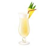 Pina-colada Cocktail realistisch Lizenzfreie Stockfotos