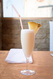 Pina colada cocktail in a tall glass Stock Image
