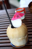 Pina Colada in Coconut. Hawaiian style Pina Colada in coconut royalty free stock image