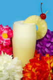 Pina Colada Drink. Shot with shallow depth of field with focus on the pineapple and the foam on the glass Royalty Free Stock Images