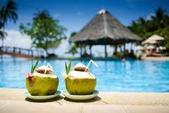 Pina Colada drink at pool and bar Royalty Free Stock Images