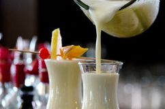 Free Pina Colada, Exotic Cocktail Ready To Serve And Is Poured Into A Glass Stock Photography - 163781472