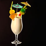 Pina colada fresh Coctail isolated on black Stock Photography