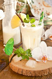 Pina Colada with pineapple Royalty Free Stock Image