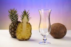 Pina Colada - ingredienser Arkivbild