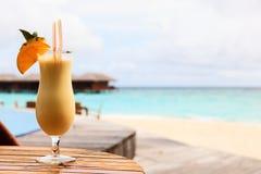 Pina colada on tropical beach Royalty Free Stock Photography