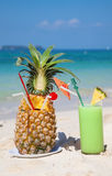 Pinaapple cocktail Royalty Free Stock Images