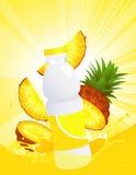 Pinaeapple juice bottle Stock Photos