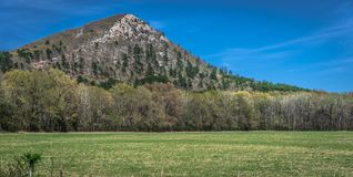 Pinakiel góra odwiedzony miejsce w Little Rock, Arkansas, usa obraz royalty free