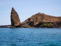 Pinakiel skała, Bartolome wyspa, Galapagos archipelag Zdjęcie Royalty Free