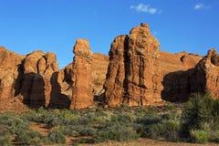 Pinakle, łuki parki narodowi, Moab Utah Zdjęcie Stock