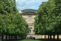 Pinakothek with Chestnut Trees Royalty Free Stock Images