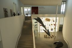 The Pinakothek der Moderne in Munich. The Pinakothek der Moderne , Pinakothek of the Modern is a modern art museum, situated in central Munich`s Kunstareal Stock Images