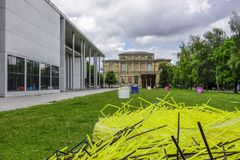 Pinakothek dera Moderne w Monachium, Bavaria, Niemcy Fotografia Royalty Free