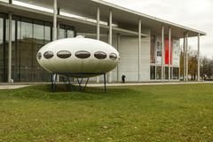 Pinakothek der Moderne in Munich, Germany. Pinakothek of the Modern is a modern art museum, situated in central Munich`s Kunstareal. Locals sometimes refer to it Royalty Free Stock Images