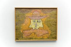 Paul Klee painting in Pinakothek der Moderne in Munich. Pinakothek of the Modern is a modern art museum, situated in central Munich`s Kunstareal. Locals Royalty Free Stock Image