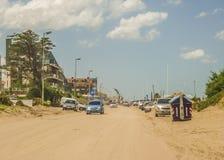 Pinamar City Dirt Road Stock Images