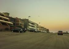 Pinamar City at Sunset Stock Photos