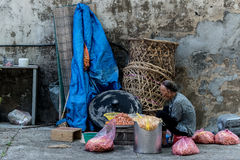 Pinang , Malaysia : The older are still working Stock Images