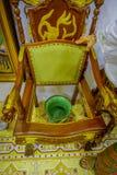 Pinang Peranakan Mansion, a museum containing antiques and showcasing Peranakans customs, interior design and lifestyles. Chamber pot chair in Pinang Peranakan Royalty Free Stock Photo