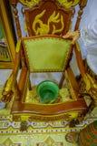 Pinang Peranakan Mansion, a museum containing antiques and showcasing Peranakans customs, interior design and lifestyles. Chamber pot chair in Pinang Peranakan Royalty Free Stock Photography