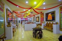Pinang Peranakan Mansion, a museum containing antiques and showcasing Peranakans customs, interior design and lifestyles. Antiques and textiles Pinang Peranakan Royalty Free Stock Image
