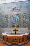Pinang Peranakan Mansion, a museum containing antiques and showcasing Peranakans customs, interior design and lifestyles. Water fountain in Pinang Peranakan Royalty Free Stock Photos
