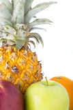 Pinapples, яблоки и апельсины Стоковая Фотография RF