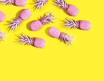 Pinapples dipinti rosa Immagini Stock Libere da Diritti