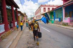 PINAR DEL里约,古巴- 2015年9月10日:街市 免版税库存照片