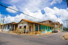 PINAR DEL里约,古巴- 2015年9月10日:街市 图库摄影