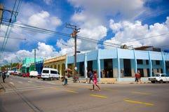 PINAR DEL RIO, CUBA - SEPTEMBER 10, 2015: Downtown Stock Photography