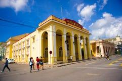 PINAR DEL RIO, CUBA - SEPTEMBER 10, 2015: Downtown Stock Photos
