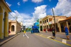 PINAR DEL RIO, CUBA - 10 SETTEMBRE 2015: Del centro Fotografia Stock Libera da Diritti