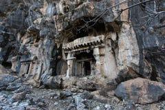 Pinara wygłupy miasto, Fethiye, Turcja obraz stock