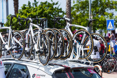 Pinarello Vittoria bikes on 100th Giro d`Italia Royalty Free Stock Photos