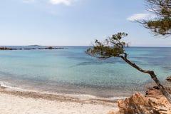 Pinarellu海滩 库存照片