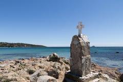 Pinarellu海滩 图库摄影