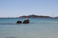 Pinarellu海滩 库存图片