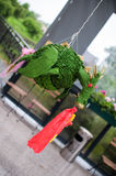 Pinata, birthday. Birthday game for kids pinata. In the picture there is a green fire-breathing dragon Royalty Free Stock Photo