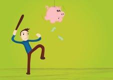 Pinata della banca Piggy Fotografie Stock Libere da Diritti
