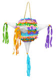 Pinata made of colorated crepe paper. Pi�ata is a typical game in Mexico during the Christmas parties called posadas. Children and adults create a large circle Stock Image