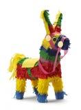Pinata. Mexican Donkey Pinata  on White Background Stock Images