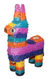 Pinata Party Animal. A party pinata as a brightly coloured llama with clipping path stock photo