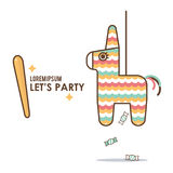 Pinata party vector clip art Royalty Free Stock Photography