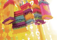 Pinata's hanging from a ceiling Stock Images